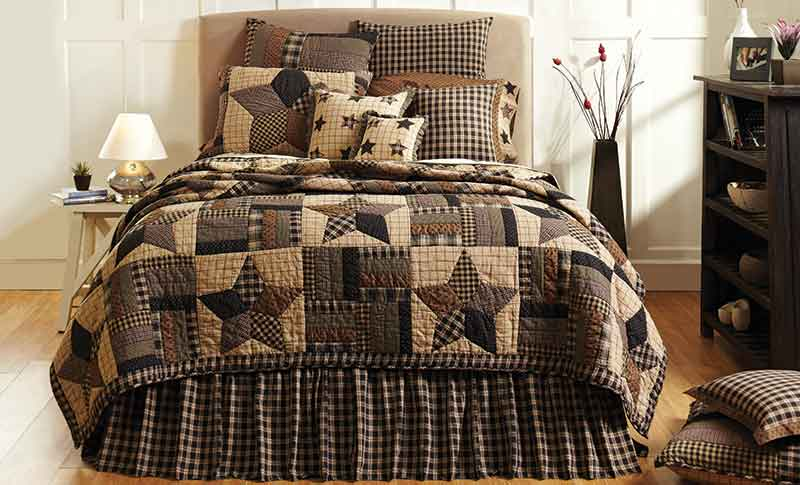 Bingham Star Bedding, Quilts, Pillows, Shams from Nancy's Nook, VHC Brands at Country Bedding and Quilts